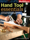 Hand Tool Essentials (eBook): Refine Your Power Tool Projects With Hand Tool Techniques